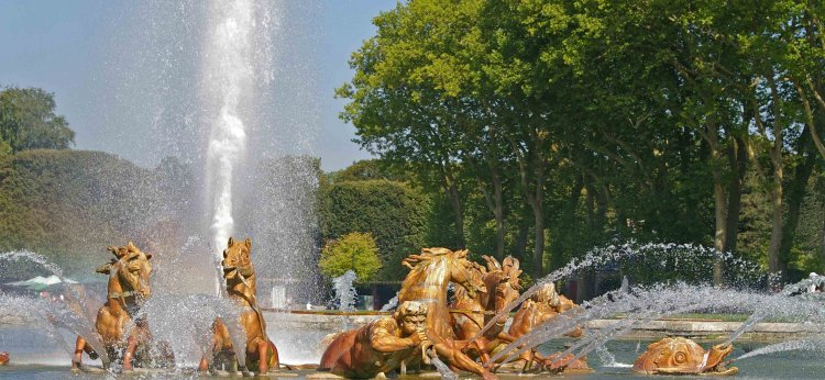 Musical fountains show at Versailles